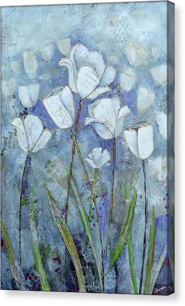 Perennial Canvas Print - Twilight Tulips by Shadia Derbyshire