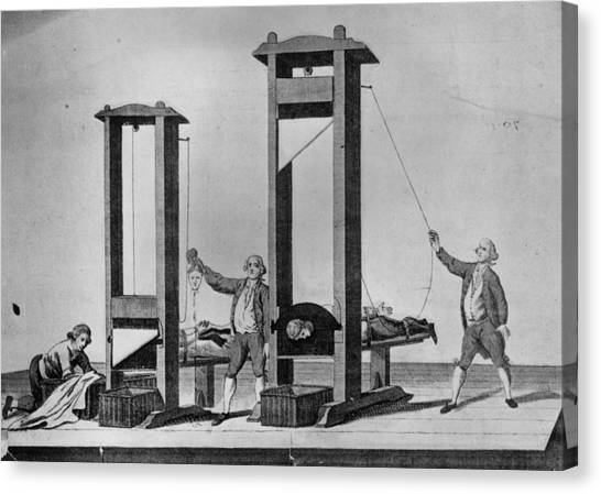 Twin Guillotines Canvas Print by Hulton Archive