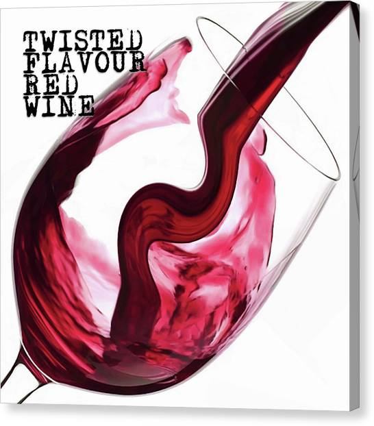 Canvas Print featuring the digital art Twisted Flavour Red Wine by ISAW Company