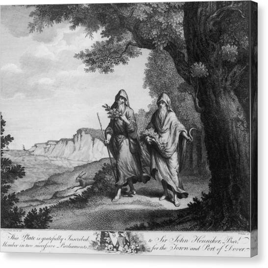 Two British Druids Canvas Print by Hulton Archive