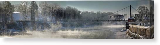 Two Cent Bridge At -5f Canvas Print