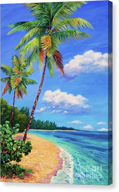 Rum Canvas Print - Two Palms In Paradise by John Clark