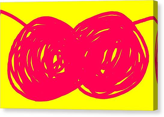 Canvas Print - Two Red Cherries by Ize Barbosa DIAMOND IS FOREVER
