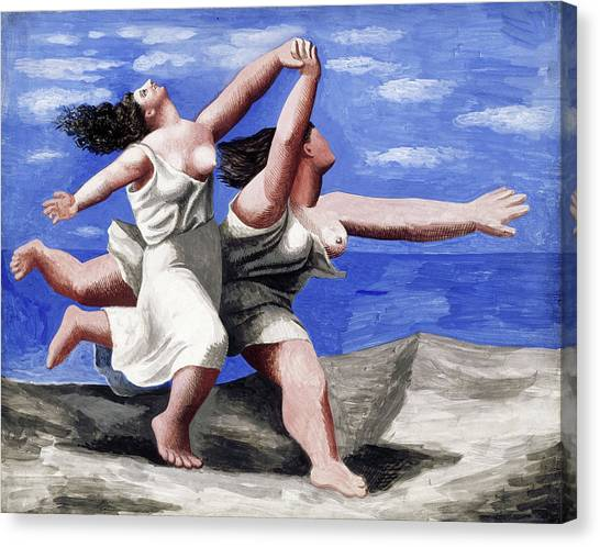 Pablo Picasso Canvas Print - Two Women Running On The Beach by Pablo Picasso