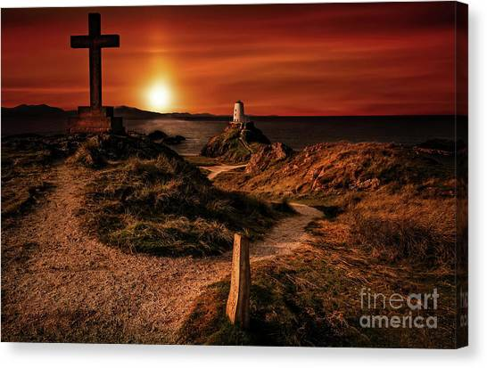 Canvas Print - Twr Mawr Lighthouse Anglesey by Adrian Evans