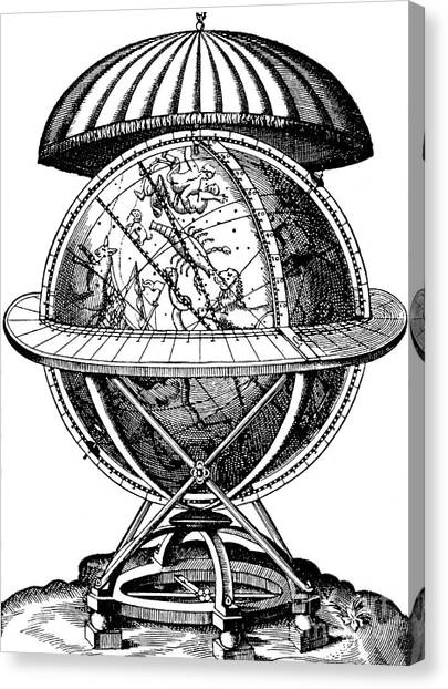 Celestial Globe Canvas Print - Tycho Brahe, Celestial Globe by English School