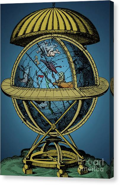 Celestial Globe Canvas Print - Tycho Brahe Globe With Constellations by English School