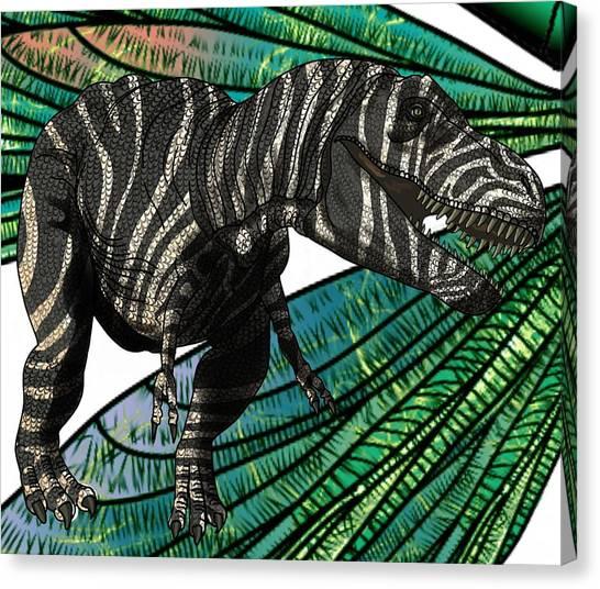 Tyrannosaurus Takes Wings Canvas Print