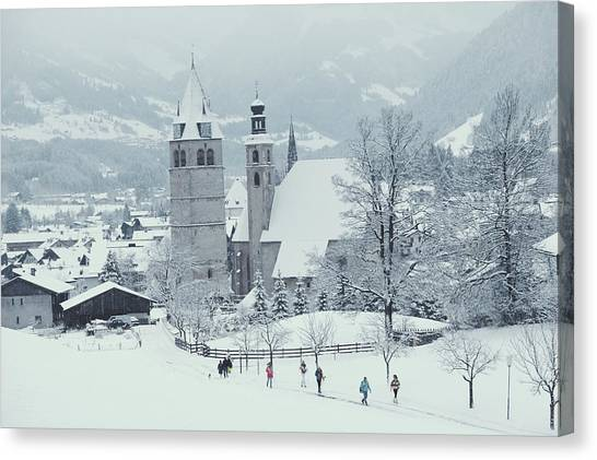 Tyrolean Churches Canvas Print by Slim Aarons