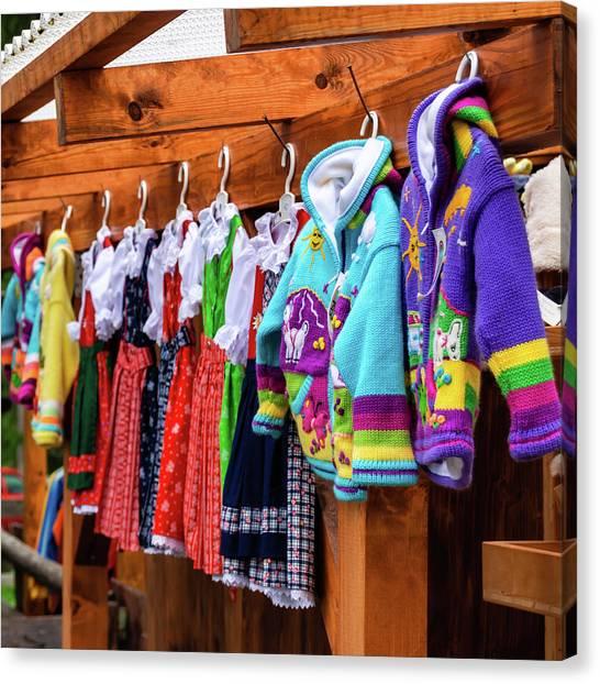 Tyrolean Fashion For Kids Canvas Print