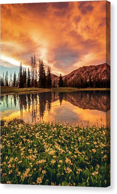 Uinta Canvas Print - Uinta Fire by Johnny Adolphson