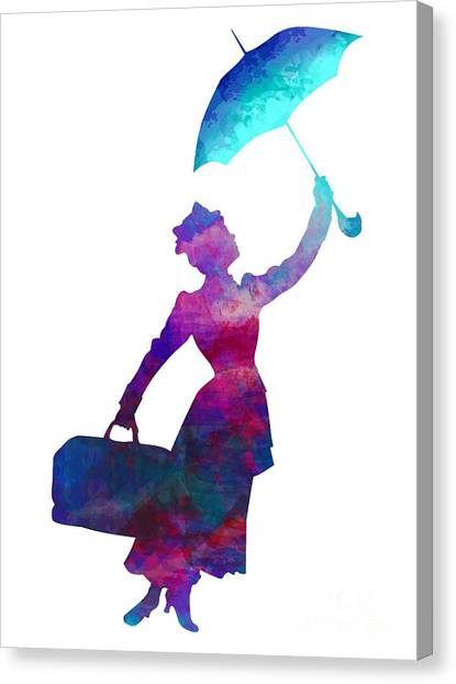 Umbrella Lady Canvas Print