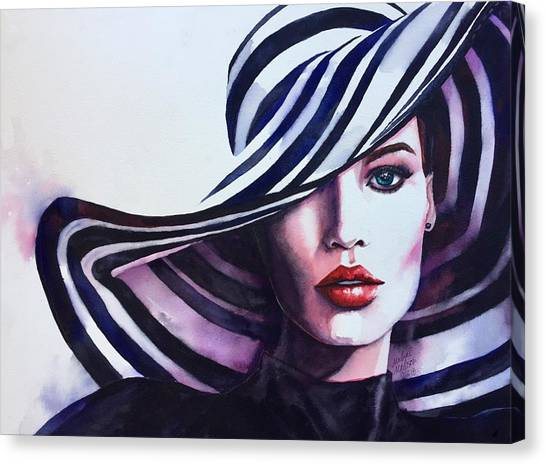 Canvas Print featuring the painting Unapologeticly Herself by Michal Madison