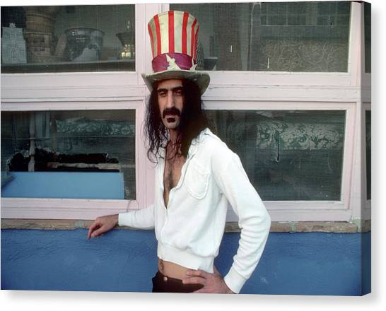 Frank Zappa Canvas Print - Uncle Zappa Wants You by Michael Ochs Archives