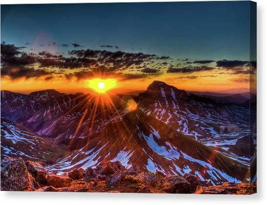 Uncompahgre At Sunrise Canvas Print by Photo By Matt Payne Of Durango, Colorado