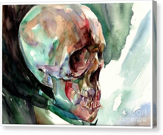 Cemetery Canvas Print - Unconfirmed Skull by Suzann Sines