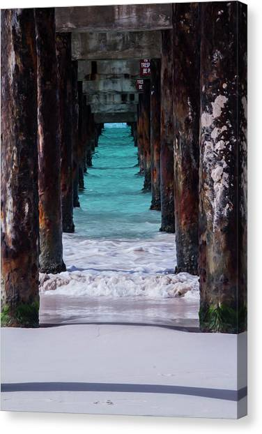 Under The Pier #3 Opf Canvas Print