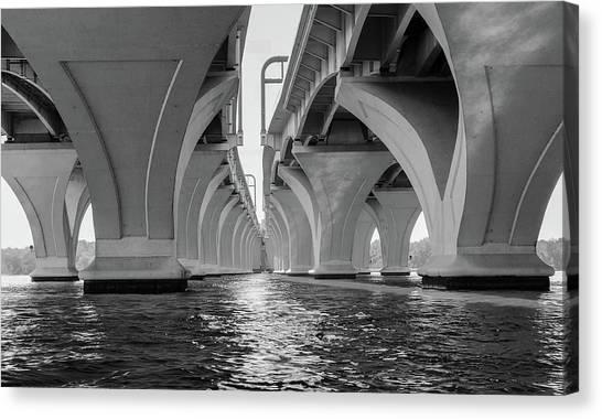 Under The Woodrow Wilson Bridge Canvas Print