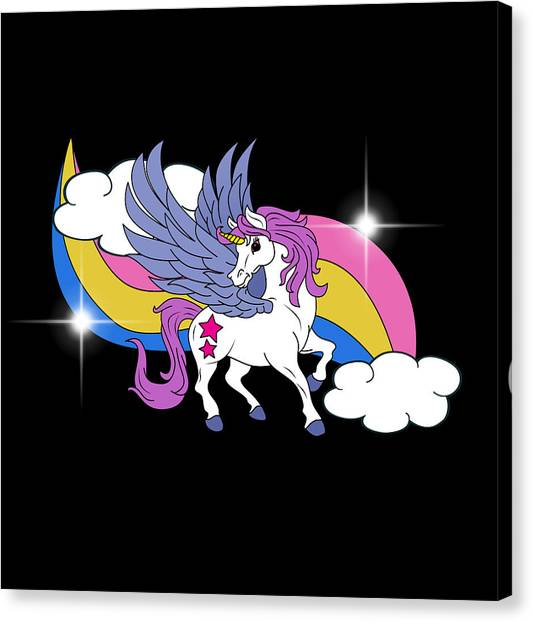 Canvas Print - Unicorn With Wings by Mark Ashkenazi