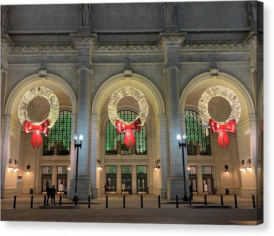 Union Station Holiday Canvas Print