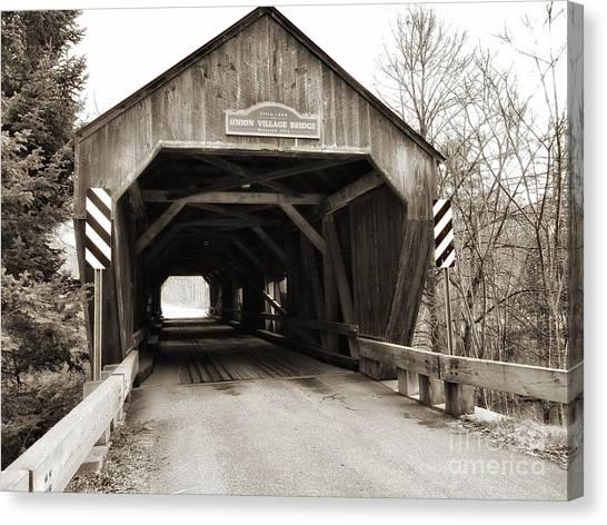 Union Village Covered Bridge Canvas Print