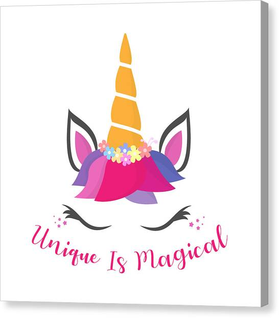 Unique Is Magical - Baby Room Nursery Art Poster Print Canvas Print