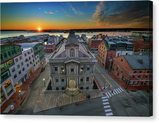 Canvas Print featuring the photograph United States Custom House by Rick Berk