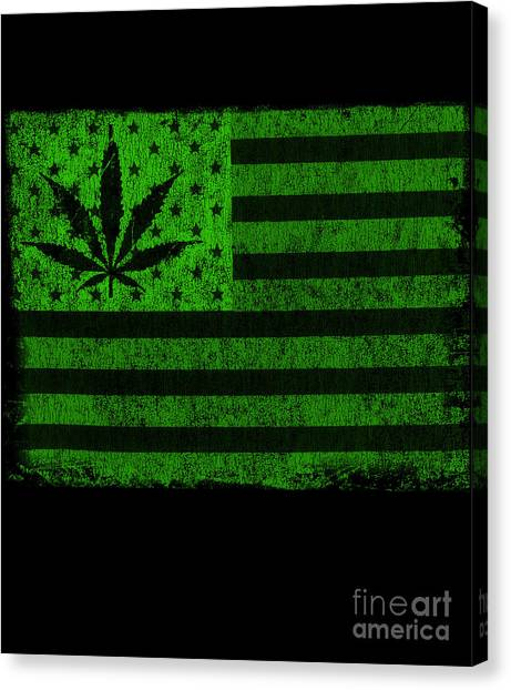 United States Of Cannabis Canvas Print