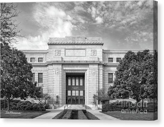 University Of Kansas Canvas Print - University Of Kansas Strong Hall by University Icons