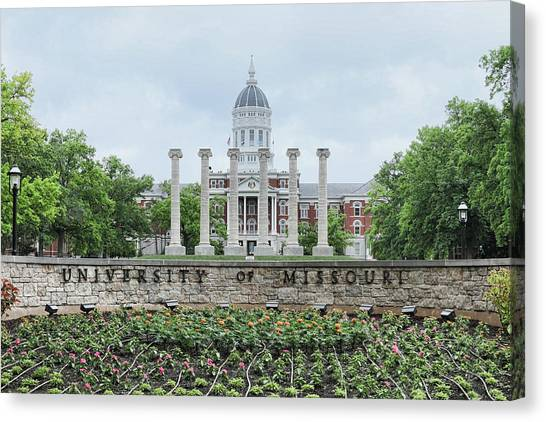 University Of Missouri Canvas Print - University Of Missouri by Corey Cassaw