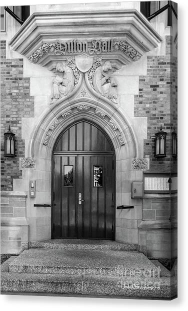 University Of Notre Dame Dillon Hall Canvas Print