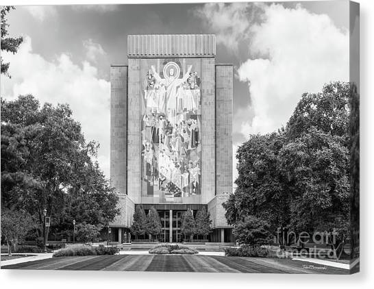 University Of Notre Dame Hesburgh Library Canvas Print