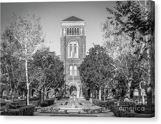 Pac 12 Canvas Print - University Of Southern California Admin Building by University Icons