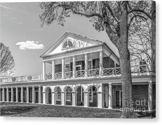University Of Virginia Canvas Print - University Of Virginia Academical Village Pavilion by University Icons