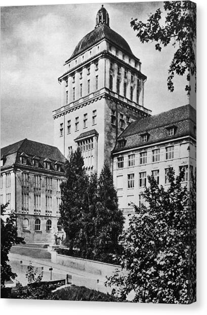 University Of Zurich Canvas Print by Hulton Archive