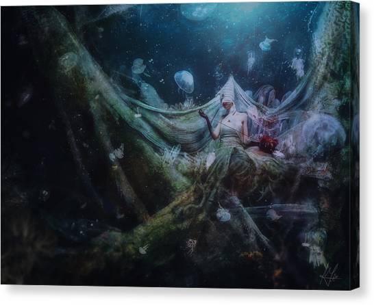 Bride Canvas Print - Unravel by Mario Sanchez Nevado