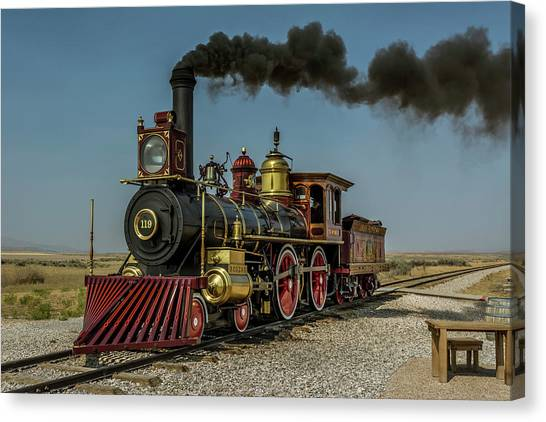 Trainspotting Canvas Print - Union Pacific 119 by Enzwell Designs