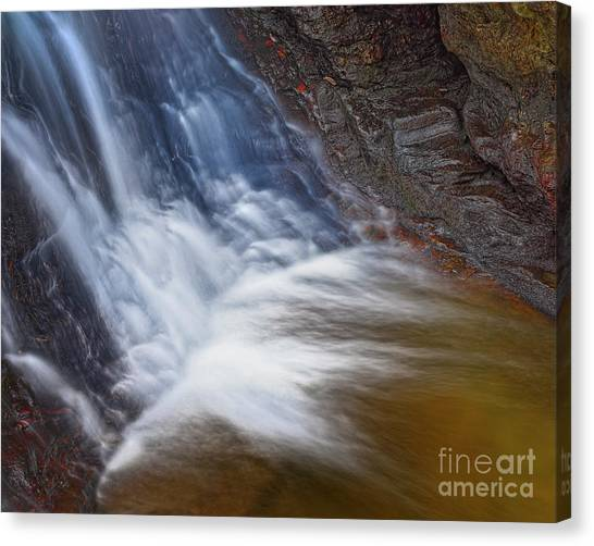 Canvas Print featuring the photograph Upper Cascade 10 by Patrick M Lynch