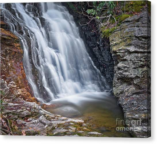 Canvas Print featuring the photograph Upper Cascade 2 by Patrick M Lynch
