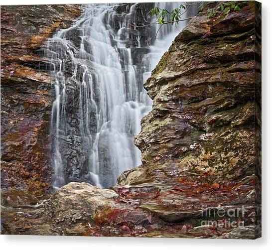 Canvas Print featuring the photograph Upper Cascade 3 by Patrick M Lynch