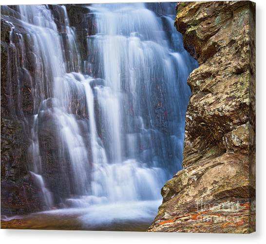 Canvas Print featuring the photograph Upper Cascade 4 by Patrick M Lynch