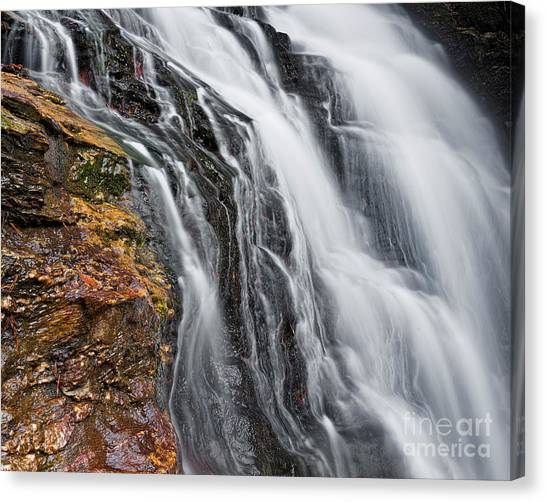 Canvas Print featuring the photograph Upper Cascade 5 by Patrick M Lynch
