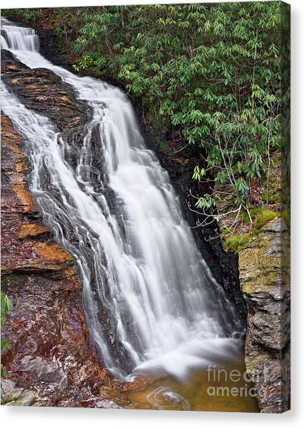 Canvas Print featuring the photograph Upper Cascade 6 by Patrick M Lynch