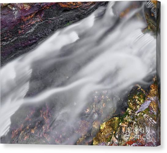 Canvas Print featuring the photograph Upper Cascade 7 by Patrick M Lynch
