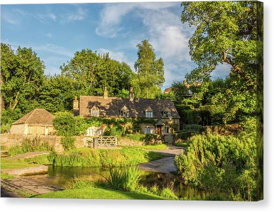 Upper Slaughter, Gloucestershire Canvas Print by David Ross