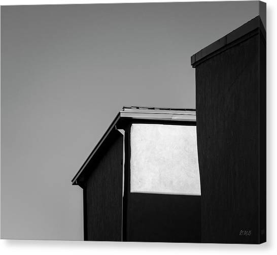 Canvas Print featuring the photograph Urban Abstract II Bw by David Gordon
