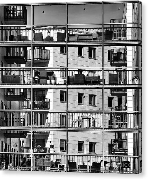 Urban City View, Urban Construction Canvas Print by Renata Apanaviciene