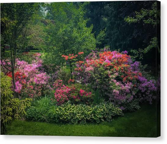 Urban Flower Garden Canvas Print