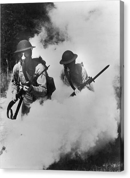 Us Infantry Canvas Print by Hulton Archive