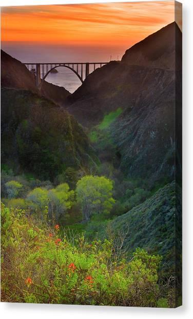 Usa, California, Big Sur, Bixby Bridge Canvas Print